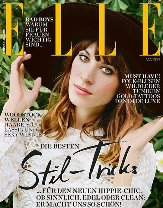 Fashion Model, TV Host @ Alexa Chung for Elle Germany, May 2015
