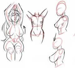 come disegnare seno ragazza