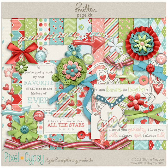 Smitten Digital Scrapbooking Page Kit