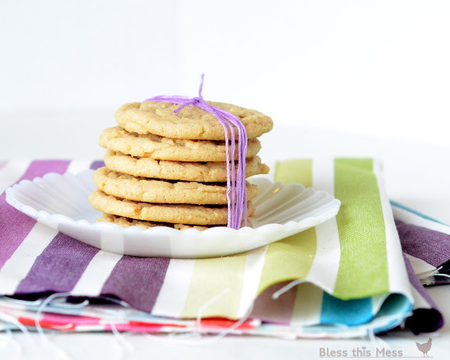 Soft and chewy PB cookies, PB cookie recipe, soft peanut butter cookies