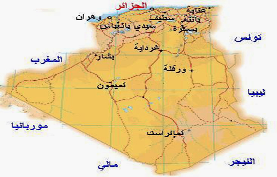 خريطة الجزائر