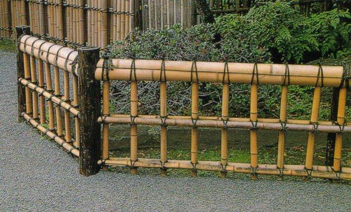 Jardins maravilhosos cercas de bambu for Short garden fence designs