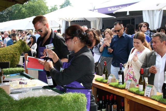Asda wine demonstration Taste of London