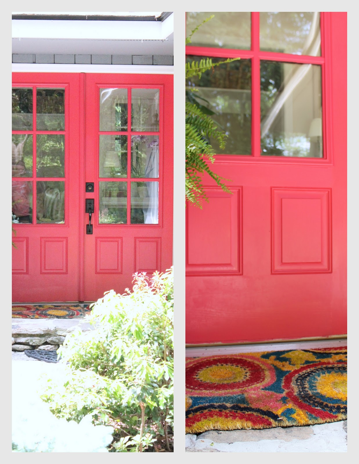 Woven Home Hot Pink Front Door Valspar Berry Blush