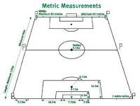 ukuran membuat lapangan sepak bola