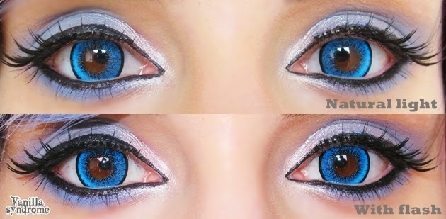 Bold & Vivid Blue Lenses for Dark Brown Eyes