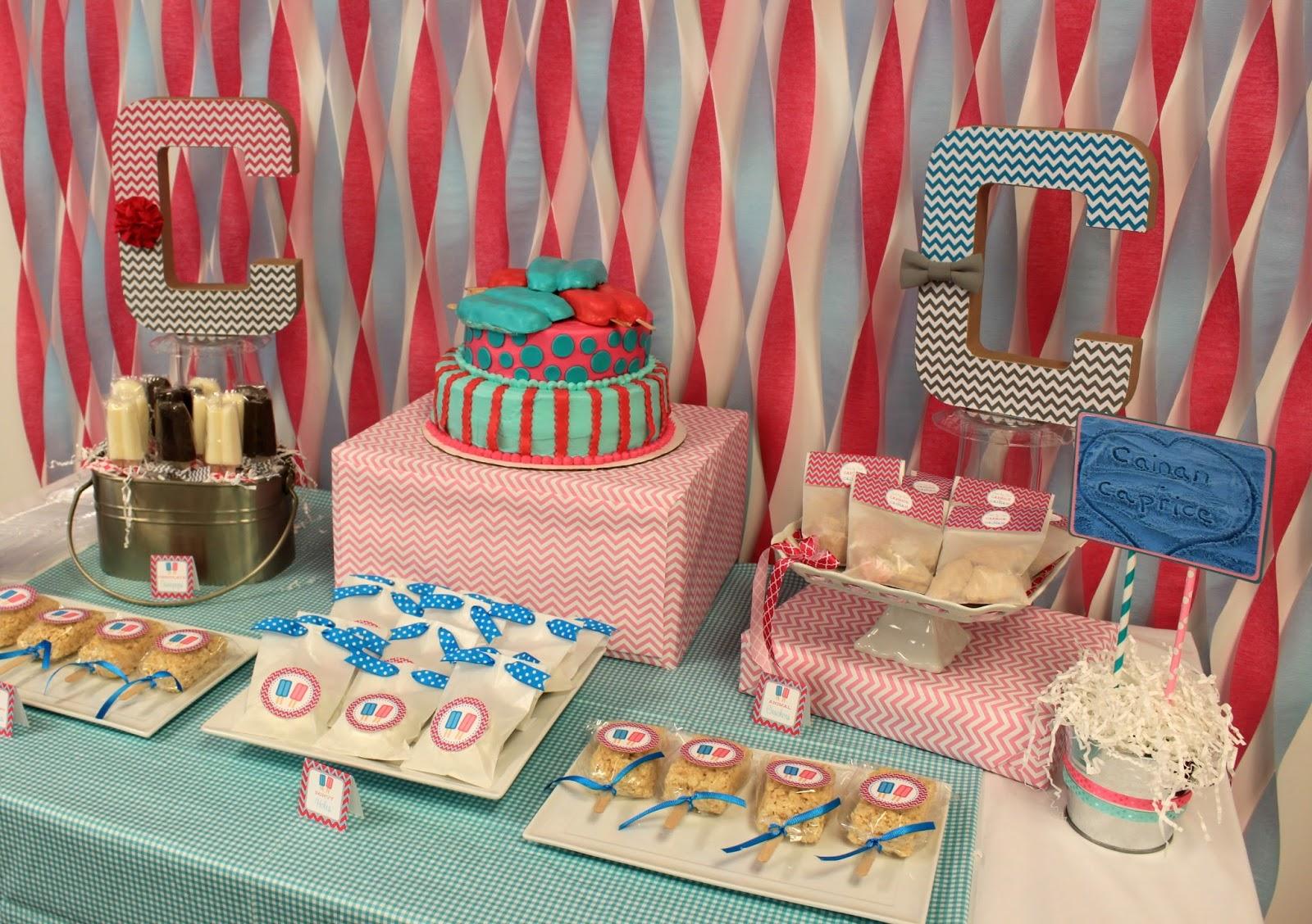 Baby shower rice krispy treat ideas - Twin Pops Baby Shower From Nbrynn