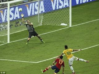 Gol Neymar Brazilia Spania finala Cupa Confederatiei
