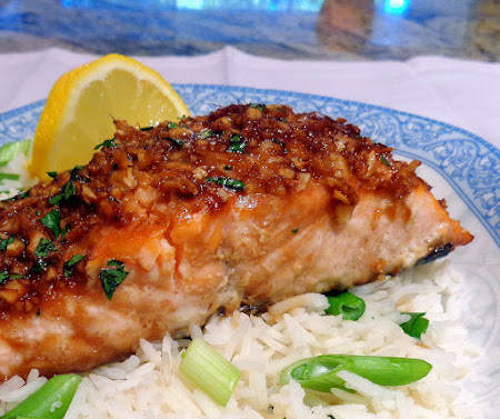 ... Bite: Table for Two - Asian-Style Baked Salmon with Scallion Rice