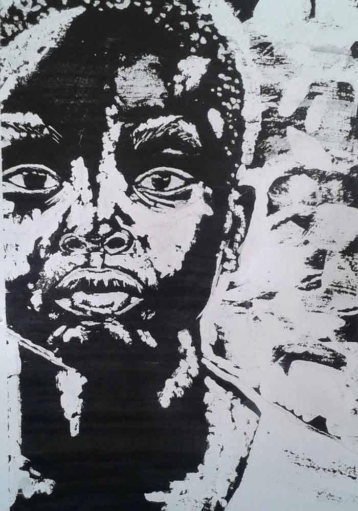 cara niño africano