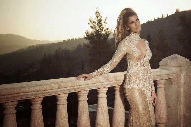 Fantásticos vestidos elegantes de noche