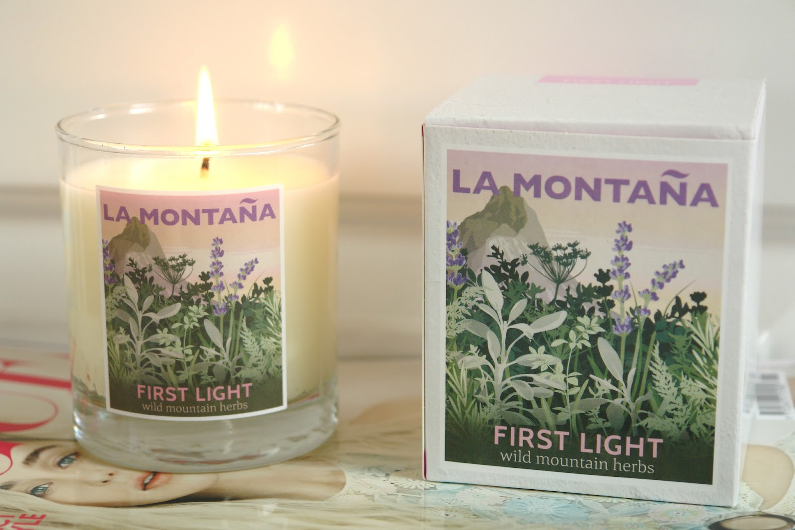 La Montaña First Light candle, candles, review,