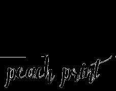 peach print