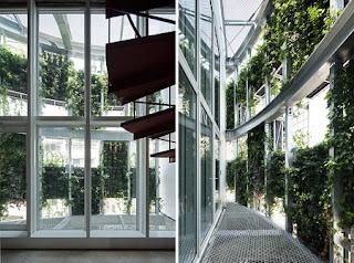 Jardín Vertical en Edificio de Japón, Espacios Verdes