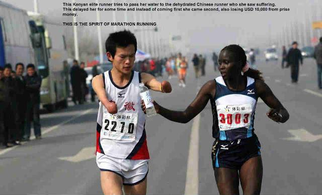 Kenyan marathon runner helped to a disabled Chinese runner and lose US$10,000 cash prize போட்டியில் ஜெயிப்பது மட்டுமே வெற்றி இல்லை - கென்யா நாட்டு வீராங்கனை | Manidha neyam | மனித நேயம் | மனித நேயம் என்றால் என்ன | மனித நேயம் காப்போம்