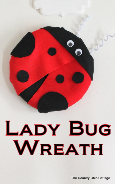 Lady Bug Wreath plus more wreaths to enjoy! - * THE COUNTRY CHIC