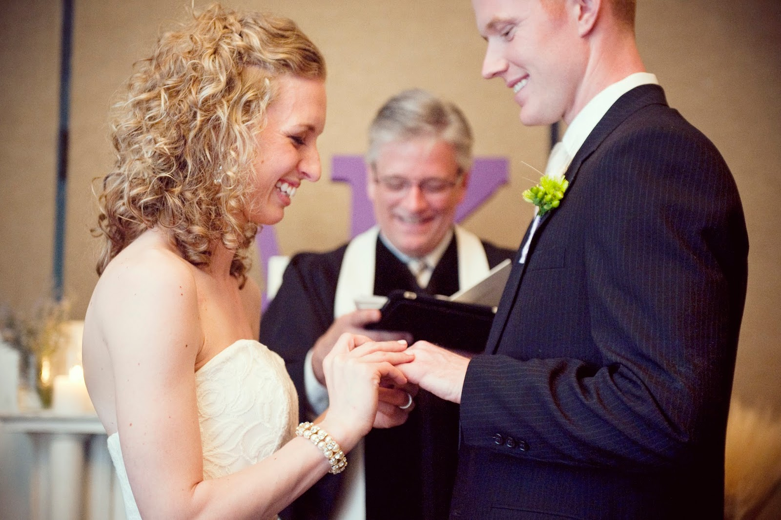 exchange rings during wedding ceremony
