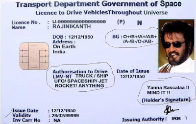 Rajinikanth  driving License - Jokes