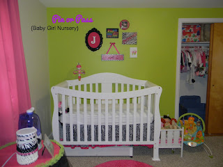 lime green, hot pink and zebra baby girl nursery