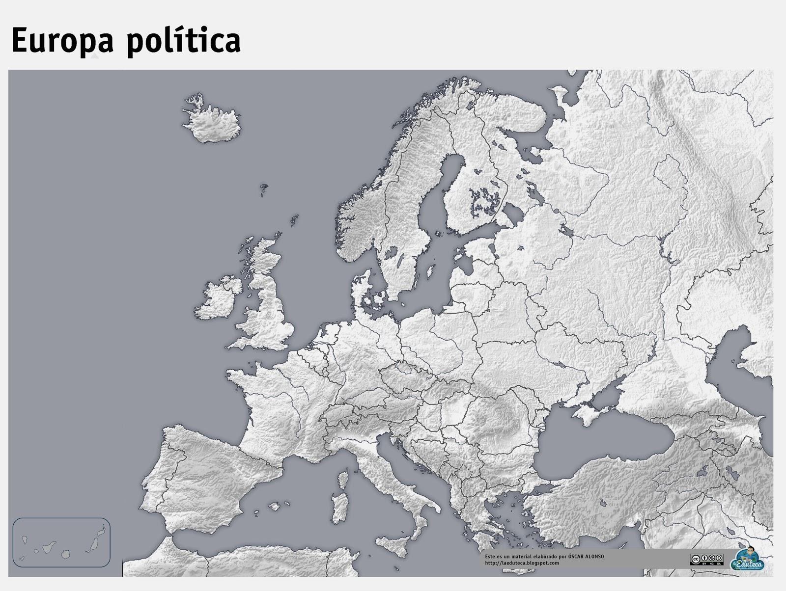 RECURSOS PRIMARIA  Mapas mudos de Europa  La Eduteca
