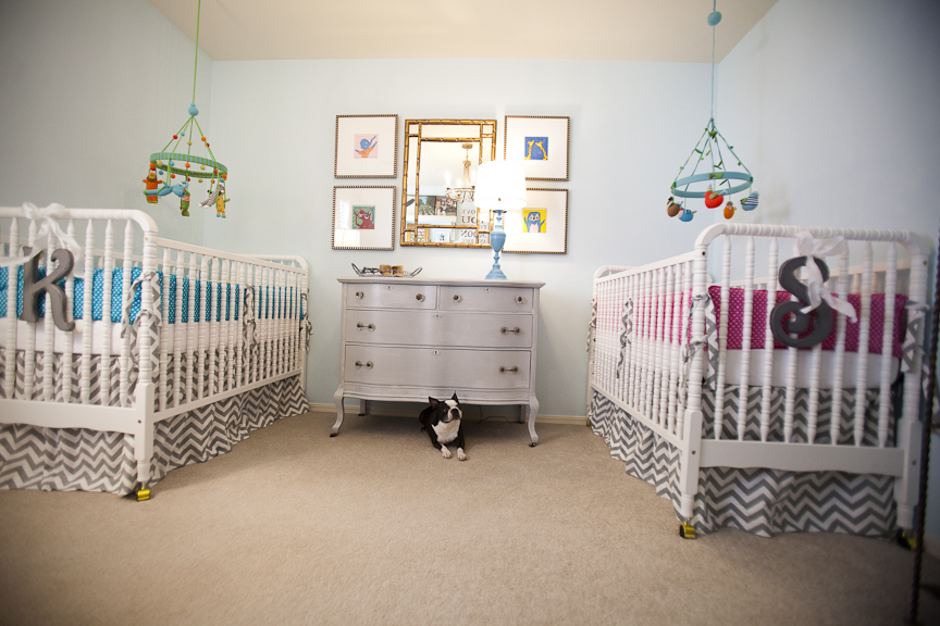 Nursery part 2 details in this wonderful life for Baby twin bedroom ideas