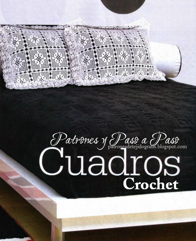 Cuadrado crochet para hacer almohadones