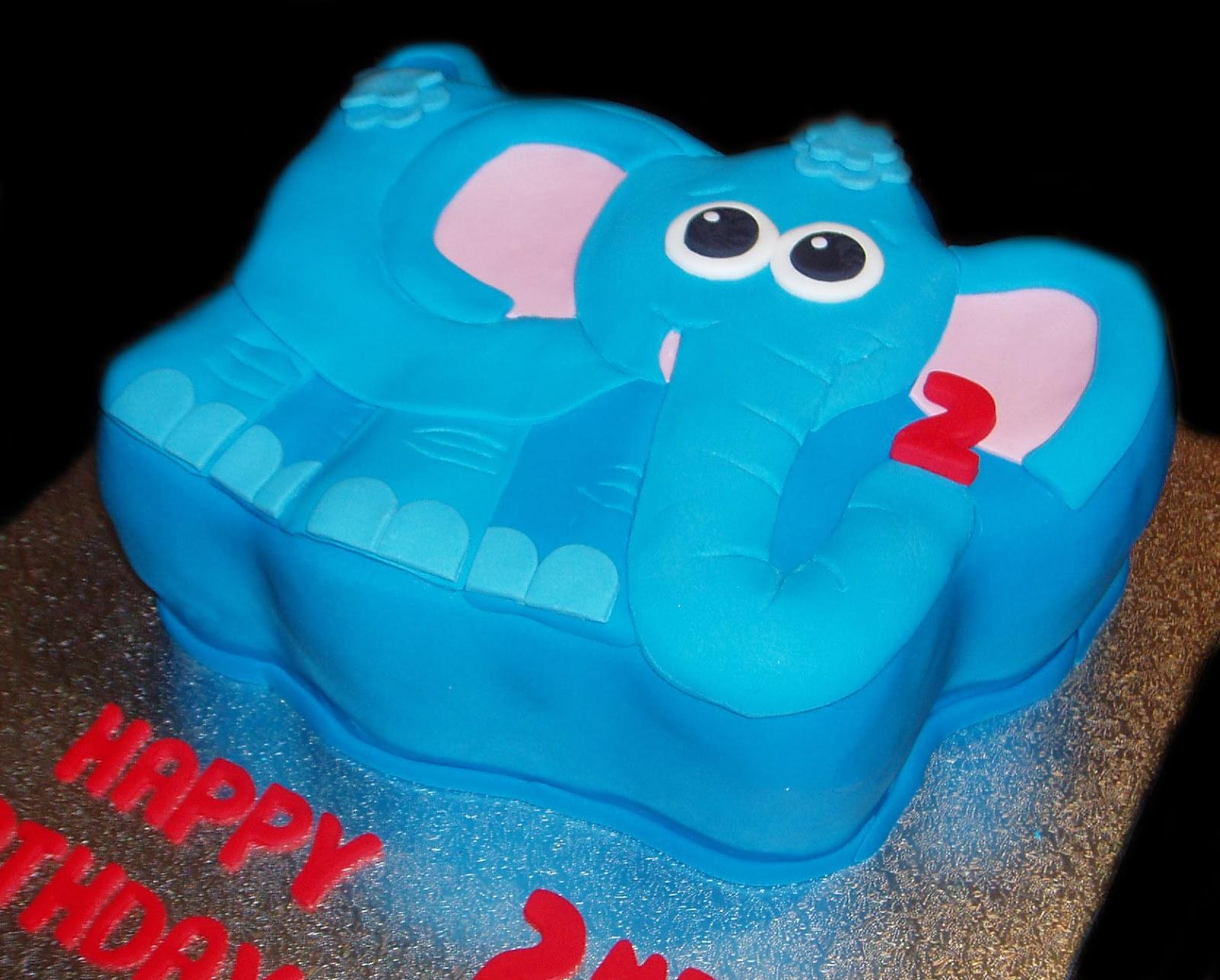 Nada s cakes: Blue Elephant Birthday Cake - by Nada s ...
