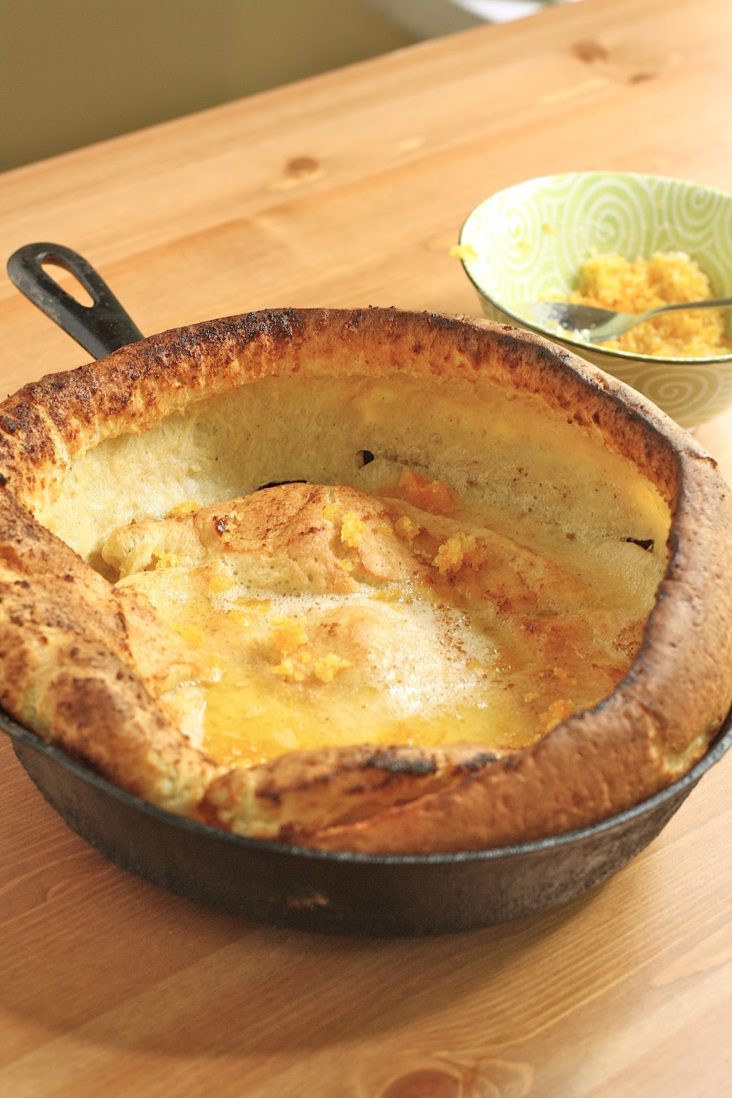 Dutch Baby Pancakes with Orange Sugar