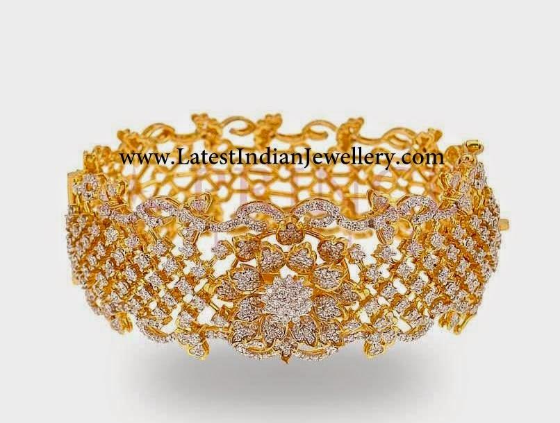 Designer Party Wear Diamond Bangle