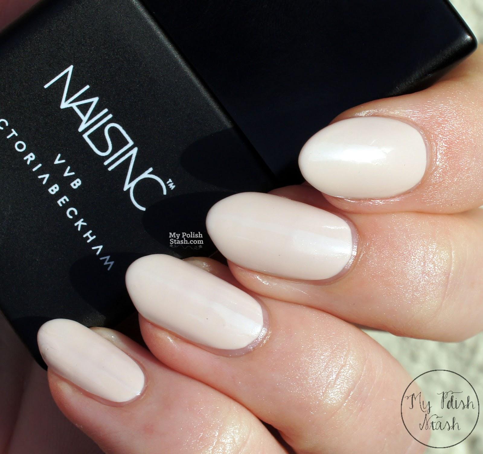 My Polish Stash: Job Interview Nails: Nails Inc x VVB - Bamboo White