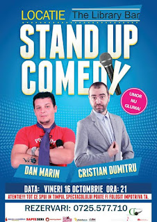 Stand-Up Comedy Vineri 16 Octombrie Piatra Neamt