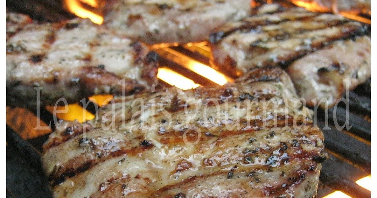 Côtelettes de porc au thym et au miel