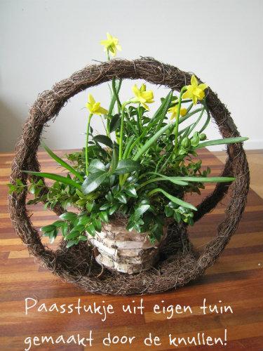 Paasstukje uit eigen tuin