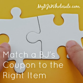 Match BJ's Coupons to Items