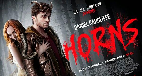 Banner de Horns con Daniel Radcliffe y Juno Temple
