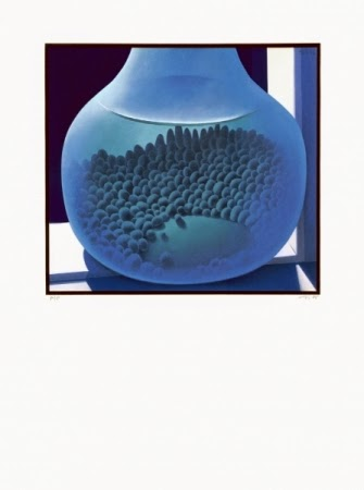 Stones in Blue Bottle print by Michael Smither