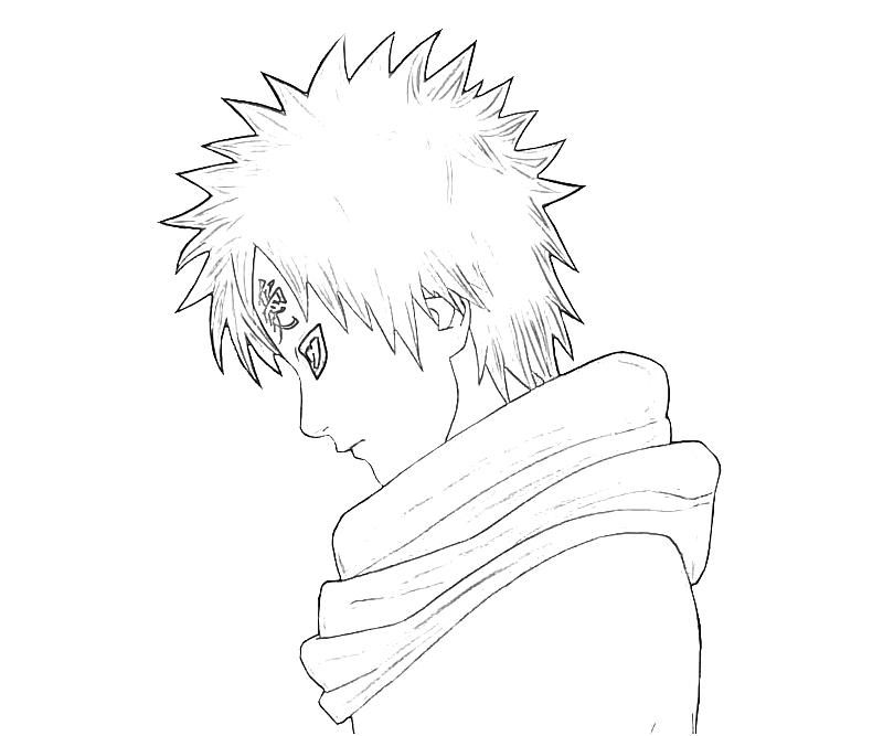 gaara coloring pages - photo#28