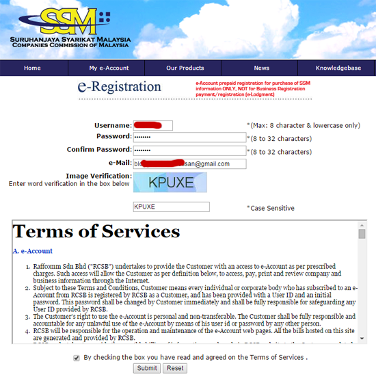 Semak Online Pendaftaran SSM Perniagaan Online