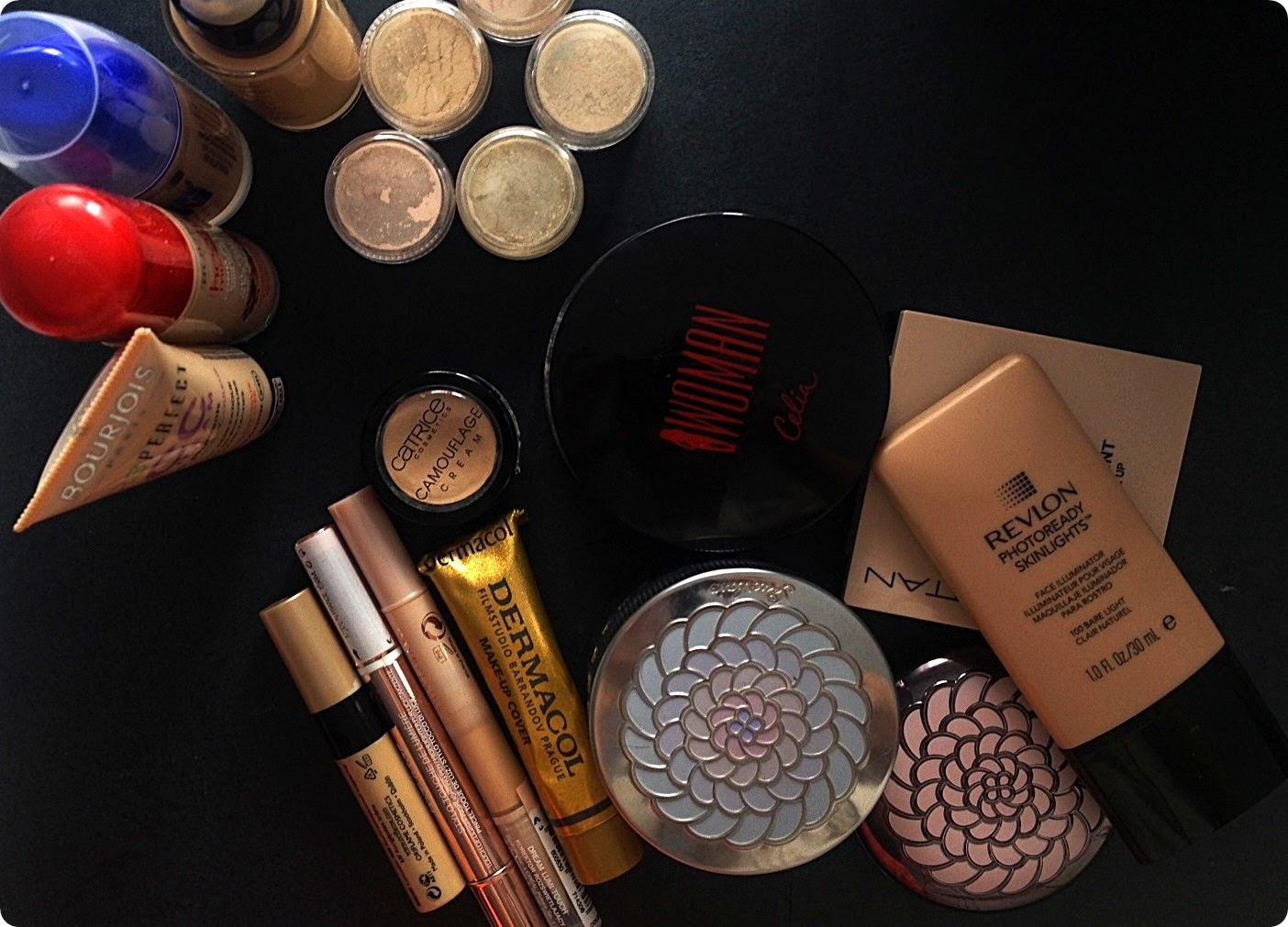 Moje kosmetyczne skarby: podkłady, korektory, pudry
