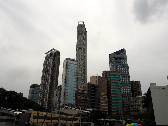 Skyscrapers n the Tsim Sha Tsui region of Hong Kong