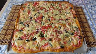 Пицца из тонкого теста