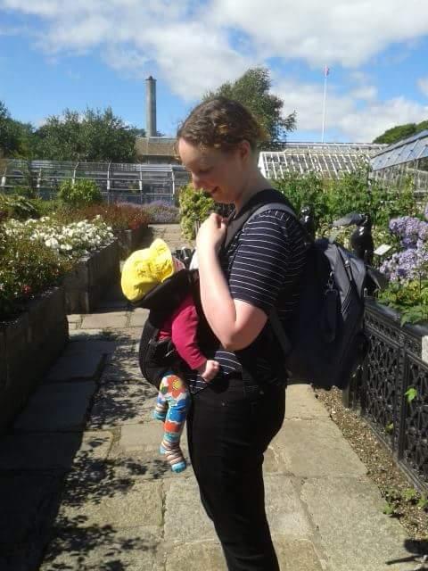 David Welch Winter Gardens - Duthie Park, Aberdeen. Sarah and Baby Rooftops.
