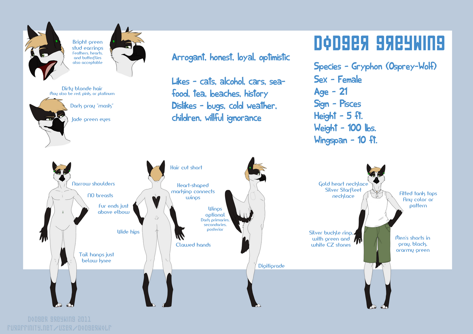 silvergryphon studios  reference sheets