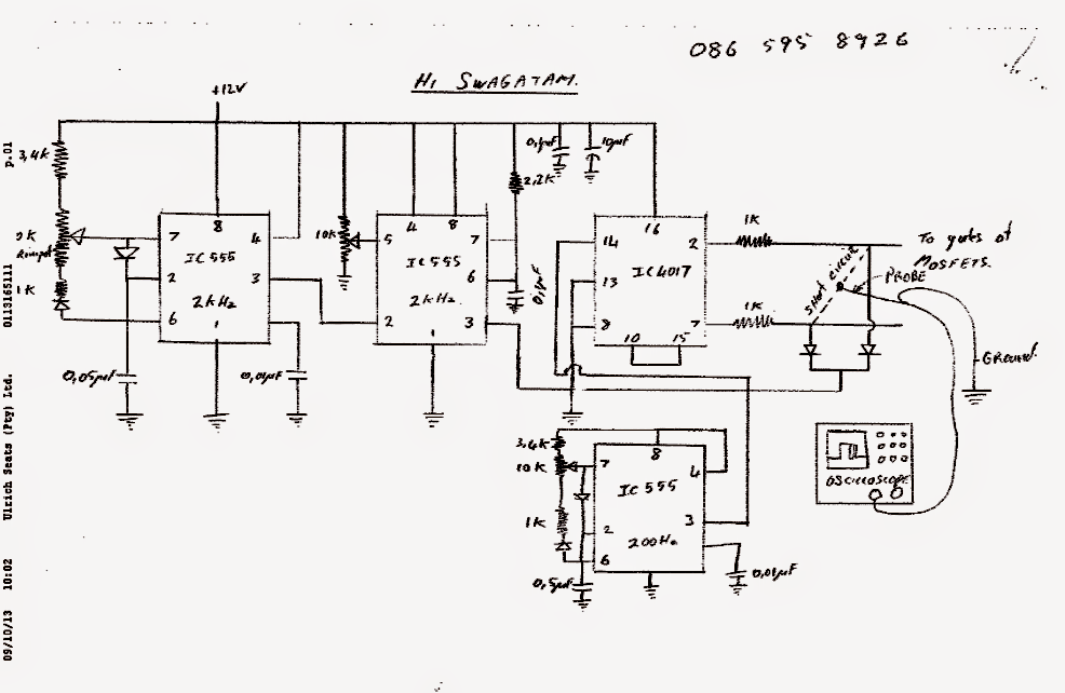 modified square wave inverter schematic