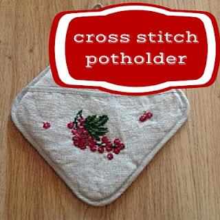 cross stitch potholder with free pattern