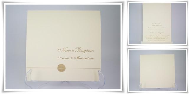 Bodas de Ouro Nice e Rogério, Modelo Joaquina exclusivo.