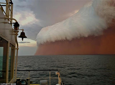 'Red Wave' Dust Storm Pounds Australia.