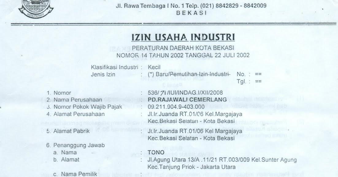 Surat Izin Usaha Industri Siui Yogosshelter Sebarkanlah