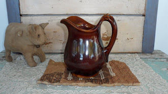 Early Brownstone Childs Milk Pitcher