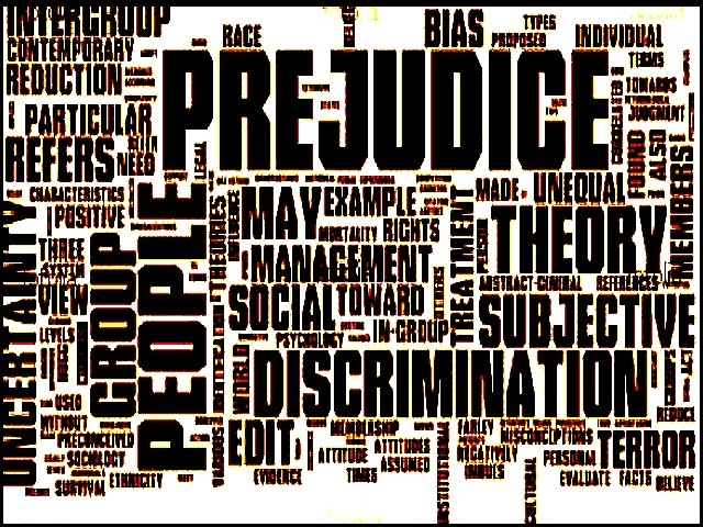 issue of prejudice discrimination and racism Difference between prejudice and discrimination effects of prejudice and  it is known as racism discrimination is often the  it is primarily an issue.